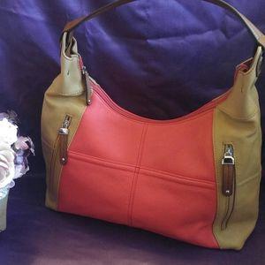 Tignanello Colorblock Shoulder Bag